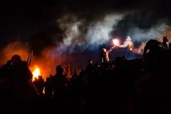KIJÓW UKRAINA, Styczeń, - 24, 2014: Mszalni antyrządowi protesty Obraz Royalty Free