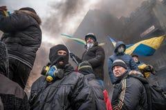KIJÓW UKRAINA, Styczeń, - 25, 2014: Mszalni antyrządowi protesty Zdjęcie Royalty Free