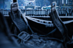 KIJÓW UKRAINA, Styczeń, - 20, 2014: Ranek po gwałtownego obrazy stock