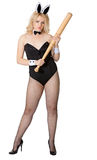 kij bejsbolowy dziewczyny królik seksowny Zdjęcia Stock