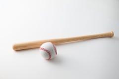 Kij Bejsbolowy i baseball Zdjęcia Stock