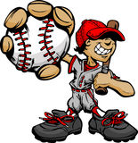 kij bejsbolowy mienia dzieciaka gracz Obrazy Stock