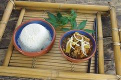 Kij i ryż obraz stock