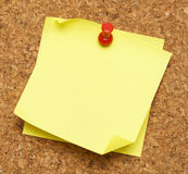 Kij notatki korka deska Obraz Stock