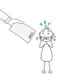 Kij postaci płacz i ręki mienia podatku forma ilustracji