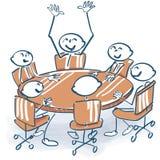 Kij postacie przy konferencją ilustracji