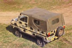 Kij?w Ukraina, Kwiecie?, - 11, 2019: Stary Samochodowy Luaz Wojskowego stylowy samoch?d obrazy stock