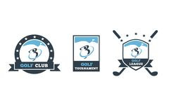 Kija golfowego loga 3 set Zdjęcie Stock