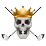 Kija golfowego lub drużyny odznaki i etykietka logo Zdjęcia Stock