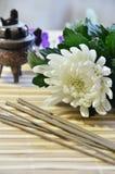 Kija kwiat i kadzidło Obraz Royalty Free