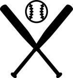Kije Bejsbolowi z piłką Zdjęcie Stock