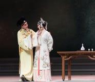 """Kijk de gelukkig-derde handeling Mannelijke Gele wijn-Kunqu Opera""""Madame Witte Snake† stock foto"""