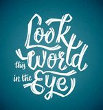 Kijk de Wereld in het Oog royalty-vrije illustratie