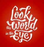 Kijk de Wereld in het Oog vector illustratie