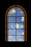 Kijk door een venster Stock Fotografie