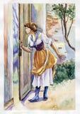 kijk door venster vector illustratie