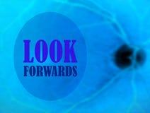 Kijk forwards Stock Afbeelding