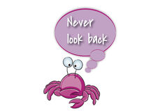 Kijk nooit terug Stock Foto's