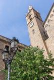 Kijk op klokketoren van Parroquia DE La Purissima Concepcià ³ Royalty-vrije Stock Afbeeldingen