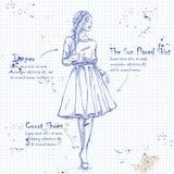 In kijk op notitieboekjepagina royalty-vrije illustratie