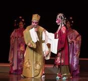 """Kijk oud en onhandig-verslag van Zuidelijke boeg-Jiangxi opera""""four dromen van linchuan† Stock Foto's"""