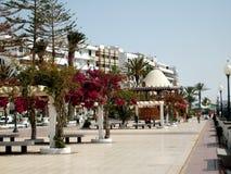 Kijk over de stad Arrecife Royalty-vrije Stock Afbeelding