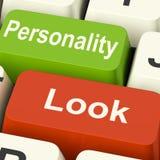 Kijk Persoonlijkheidssleutels toont Karakter of Oppervlakkig stock illustratie