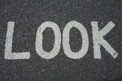 Kijk teken stock fotografie