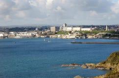 Kijkend over het Geluid, Plymouth Devon het UK stock afbeelding