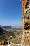 Kijkend over het Gheralta-Plateau, Ethiopië royalty-vrije stock foto