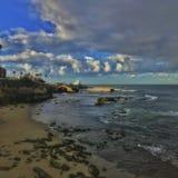 Kijkend zuiden van de Inham van La Jolla stock foto's