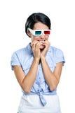 Kijker in 3D bril Royalty-vrije Stock Afbeelding