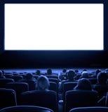 Kijkers bij bioscoop Stock Foto's