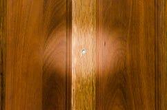 Kijkglas op houten deur Royalty-vrije Stock Foto