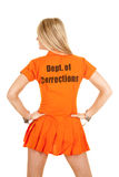 Kijkt de gevangene oranje rug kant Royalty-vrije Stock Afbeeldingen