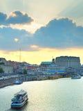 Kijowska łódkowata wycieczka, Ukraina Obraz Royalty Free
