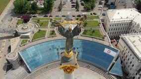 Kijowska Ukraina majdanu zabytku antena zdjęcie wideo