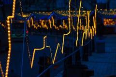 Kijowska ulica Świąteczna iluminacja Zdjęcie Stock