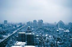 Kijowski duży miasto obrazy royalty free