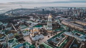 Kijowski Lavra od wzrosta fotografia royalty free