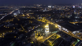 Kijowski Pechersk Lavra kościelny widok od wzrosta, Kijów, Ukraina obrazy stock