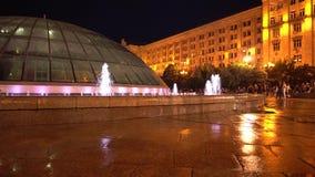 Kijowski Ukraina fontanny nocy widok zbiory