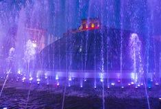 Kijowskie fontanny na majdanie Nezalezhnosti Zdjęcie Royalty Free