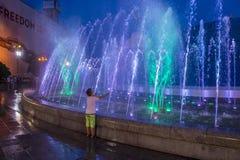 Kijowskie fontanny na majdanie Nezalezhnosti Obraz Stock