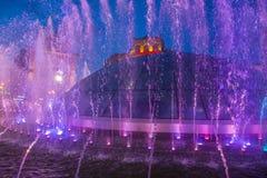 Kijowskie fontanny na majdanie Nezalezhnosti Zdjęcia Royalty Free