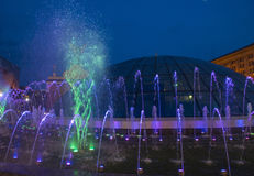 Kijowskie fontanny na majdanie Nezalezhnosti Zdjęcia Stock