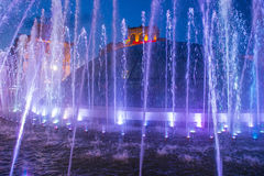 Kijowskie fontanny na majdanie Nezalezhnosti Obraz Royalty Free