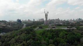 Kijowskiego Ukraina rodina mati pomnikowy zadziwiający widok z lotu ptaka zbiory