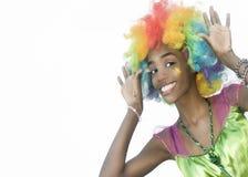 Kika den kvinnliga clownen Arkivfoton
