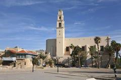 Kikar Kdumim, Franciscan church of St. Peter in old Jaffa, Stock Images